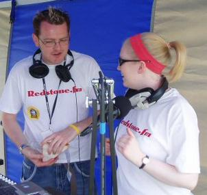 Paul Swann and Lucy G during the Fun Day Outside Broadcast.