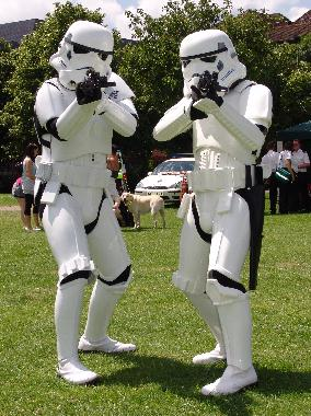 Stormtroopers at the Redhill carnival Fun Day.