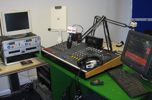 Redstone FM's temporary studio at Tower House.
