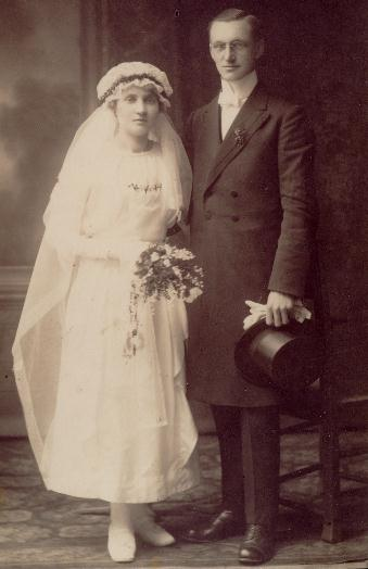 My parent's wedding picture - 1920