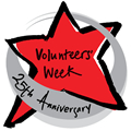 Volunteers' Week 25th anniversary logo